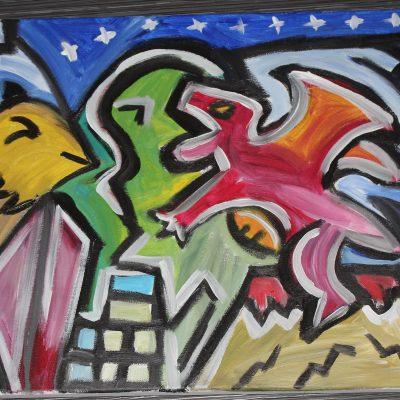 Oiseau Chaméléon Dragon Univers Médiéval (Vendu)
