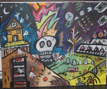 Le village maudit du squelette géant
