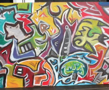 Peinture Abstraite du 3 août 2015