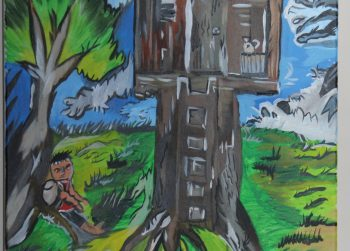 détente au pied d'un arbre